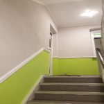 Gestaltung eines Treppenhauses in Bernburg, Trockenbau,Maler,Putz und Bodenbelag
